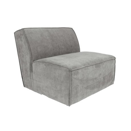 Zuiver Sofa Element James Cool gray rib fabric 86x91x74cm