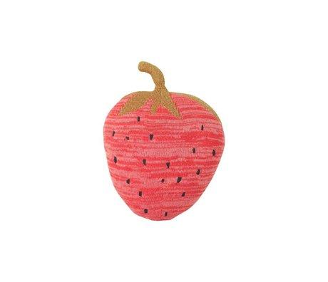 Ferm Living Hug Fruiticana Erdbeere rot Baumwolle 31x23cm