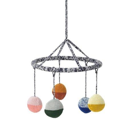 Ferm Living Mobile Ball multicolor katoen Ø18cm