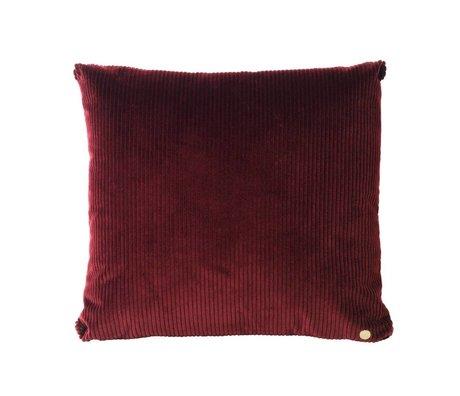 Ferm Living Kissen Velveteen Burgunder Textil 45x45cm