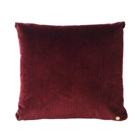 Ferm Living Throw pillow Corduroy wine red textile 45x45cm
