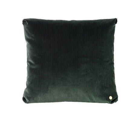 Ferm Living Throw pillow Corduroy dark green textile 45x45cm