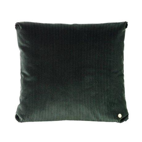 Ferm Living Sierkussen Corduroy donkergroen textiel 45x45cm