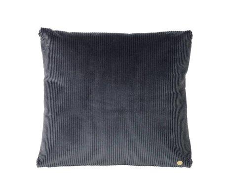 Ferm Living Sierkussen Corduroy donkergrijs textiel 45x45cm