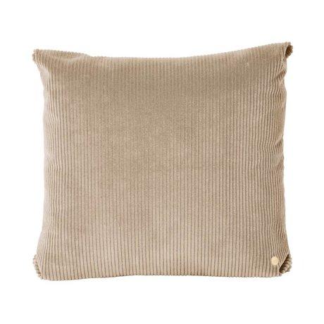 Ferm Living Throw pillow Corduroy beige textile 45x45cm