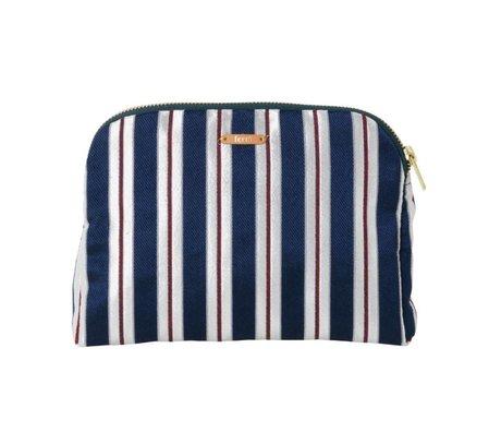Ferm Living Toiletry bag Salon Pinstripe multicolor textile 22x15,5cm
