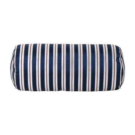 Ferm Living Cushion Salon Bolster Pinstripe multicolor textile 41,5xØ16,5cm