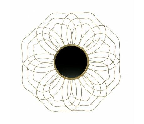 BePureHome Spiegel Gut aussehend L Messing Antik Gold Metall 5,5x88,5x88,5cm