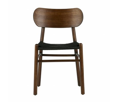 BePureHome Dining chair Jointly dark brown wood 79x47,5x48,5cm