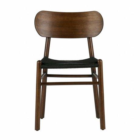 BePureHome Eetkamerstoel Jointly donker bruin hout 79x47,5x48,5cm