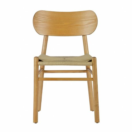 BePureHome Dining chair Jointly natural brown wood 79x47,5x48,5cm