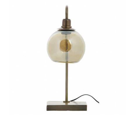 BePureHome Table lamp Lantern antique brass gold metal 49x19x19cm