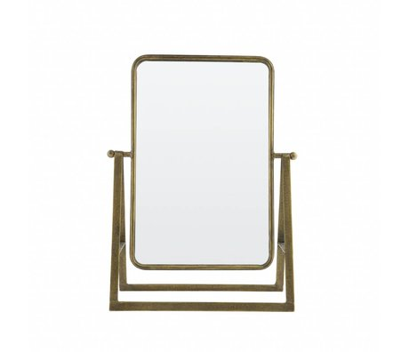 BePureHome Spiegel Say cheese Messing Antik Gold Metall 46x33,5x15cm