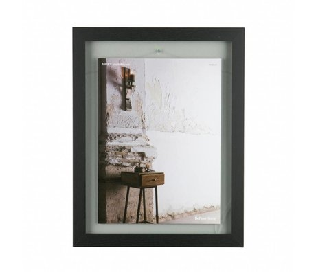 BePureHome Shift black wood frame L 50x40x1,8cm