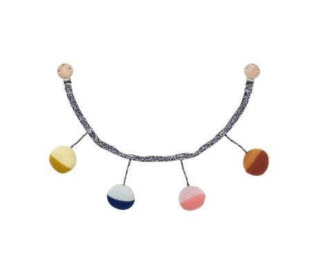 Ferm Living Wagenspanner Ball multicolor katoen Ø6x55cm