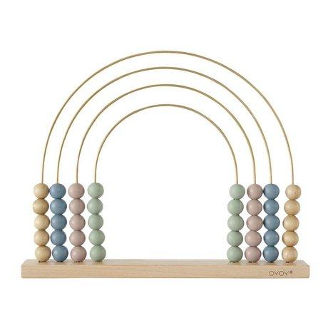 OYOY Abacus Rainbow hout 33x26,5cm