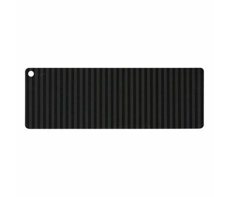 OYOY tafelloper Suji antraciet grijs zwart siliconen 180x27x0,15