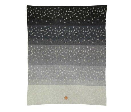 Ferm Living Blanket Little Gradi gray cotton 80x100cm