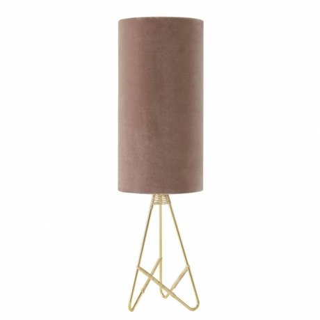 OYOY Table lamp Toko pink velvet
