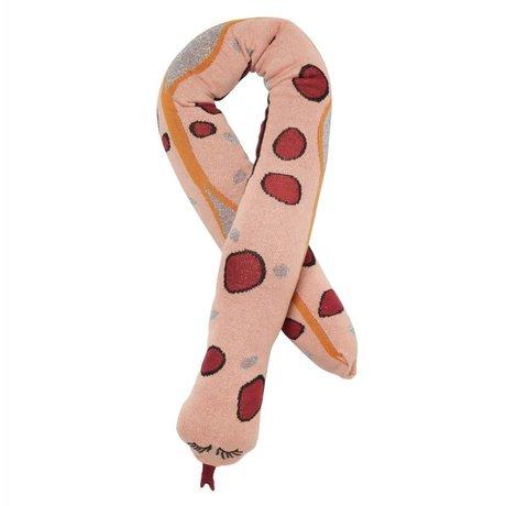Ferm Living Sierkussen Fruiticana snake roze katoen 180cm