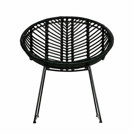 WOOOD Chaise de jardin April noir rotin 83x58x58cm