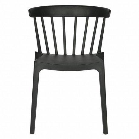 LEF collections Chaise de jardin Bliss noir plastique 53x52x75cm