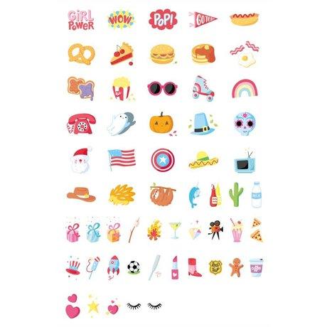 A Little Lovely Company Lightbox letterset American Dreams multicolor kunststof set van 57