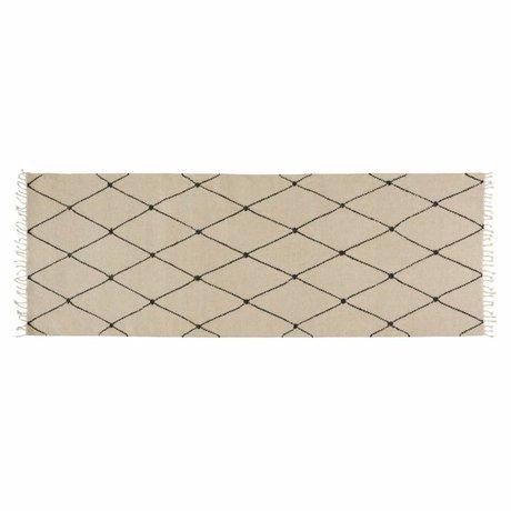 OYOY Tapis Mino crème textile 75x220cm