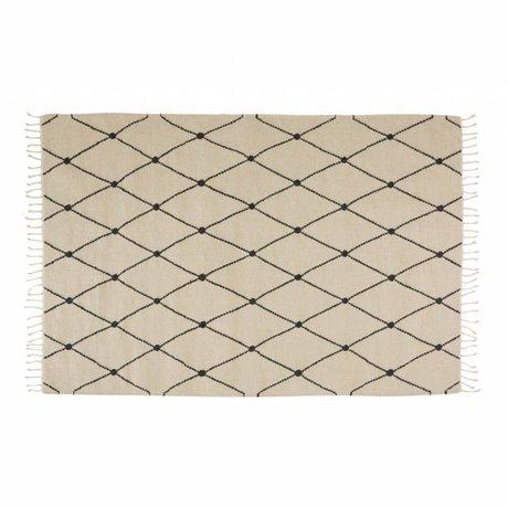 OYOY Tapis Mino crème textile 130x190cm