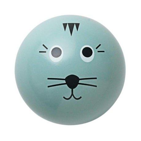 Ferm Living Wandhaken 'Cat Haken' blau Holz Ø5cm