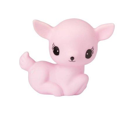 A Little Lovely Company Tischleuchte Deer pink 12x8,5x15,5cm