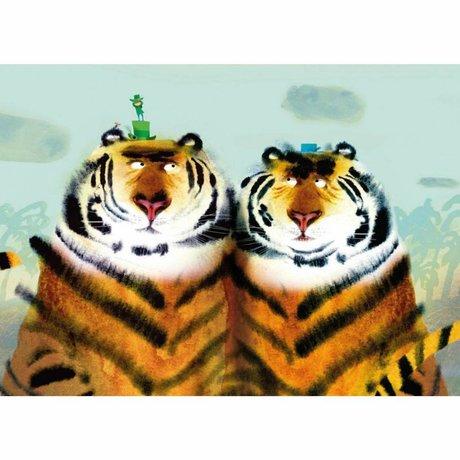 KEK Amsterdam Tapete Two Tigers mehrfarbiges Vliespapier 389,6 x 280 (8 Blatt)