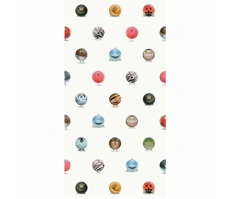 KEK Amsterdam Behang Animal Marbles multicolor vliespapier 97,4 x 280cm