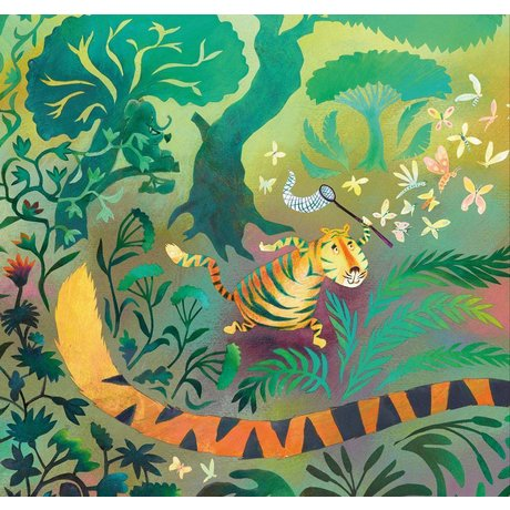 KEK Amsterdam Behang Hunting tiger multicolor vliespapier 292.2 x 280 (6 sheets)