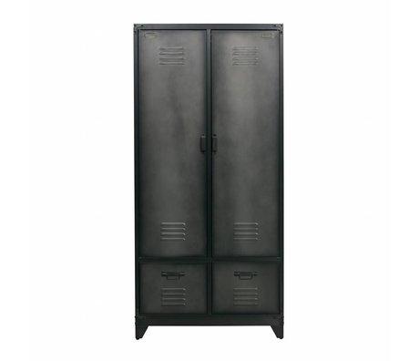 vtwonen Cabinet locker black metal 190x90x50cm