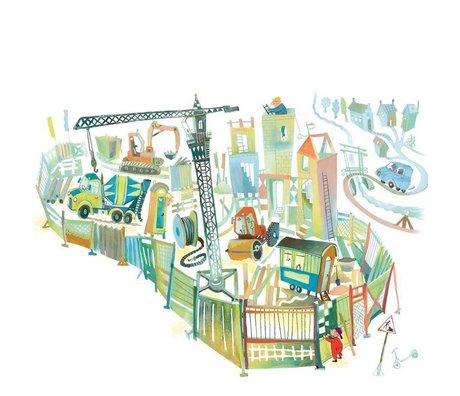 KEK Amsterdam Wallpaper Construction site multicolor non-woven paper 389.6 x 280 (8 sheets)