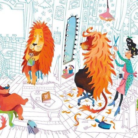 KEK Amsterdam Wallpaper Lion's haircut multicolor non-woven paper 292.2 x 280 (6 sheets)