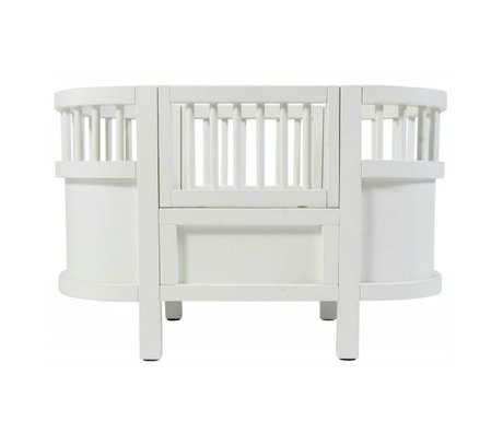 Sebra Puppenbett aus weißem Holz 49x44x35cm