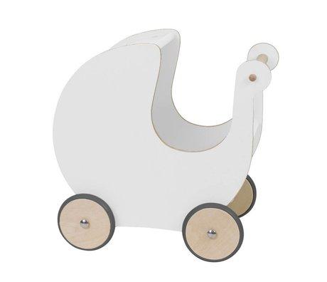 Sebra Puppenwagen weiß Holz 45x25x44cm
