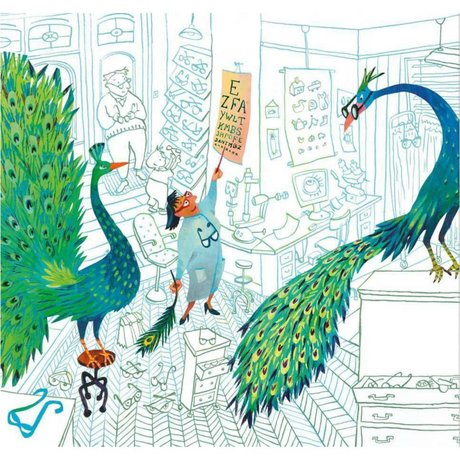 KEK Amsterdam Behang Green peacocks multicolor vliespapier 292.2 x 280 (6 sheets)