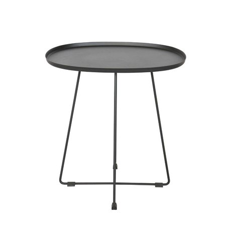 LEF collections Occasional table Otis (garden) black metal 43x51x50cm