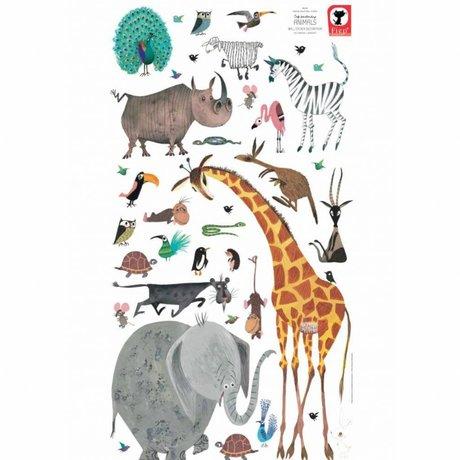 KEK Amsterdam Wandsticker Tiere (XL) Mehrfarbenvinyl 97 x 180