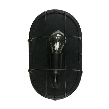 WOOOD Wall light Gabber black metal 18x12x30cm