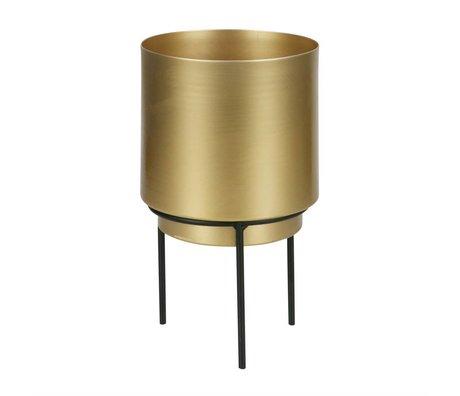 WOOOD Topf für Pflanze Guus Messing Gold Metall Ø13x22,5cm