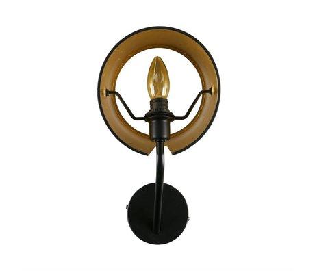WOOOD Wandlamp Pien zwart metaal 18x20x32cm