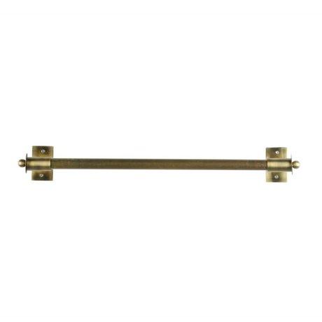 WOOOD Wandregal Pleun Messing Gold Metall L 63x13x8cm