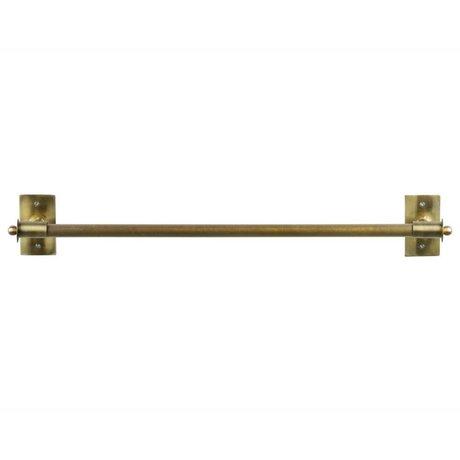 WOOOD Wall rack Pleun brass gold metal XL 84x13x12cm