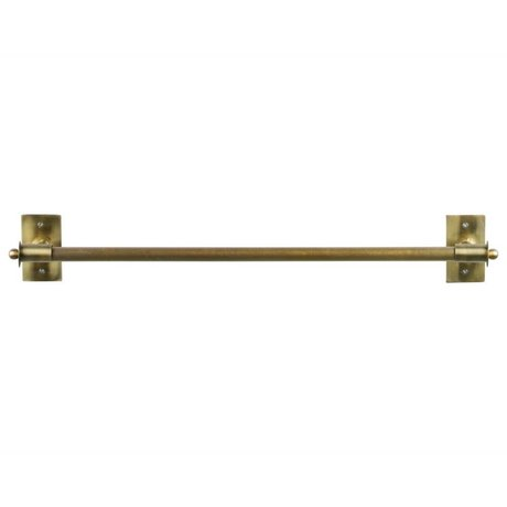 WOOOD Wandrek Pleun brass goud metaal XL 84x13x12cm