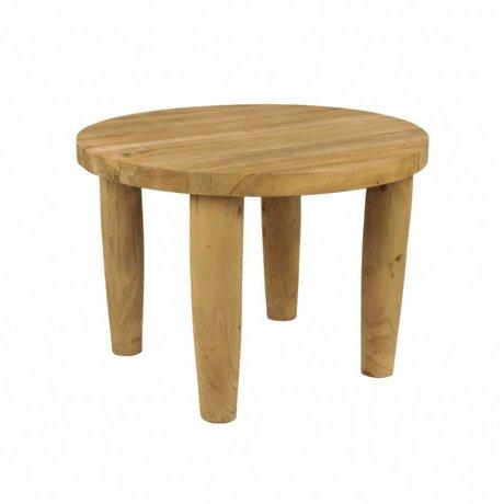 WOOOD Kruk Raaf naturel hout Ø50x35cm