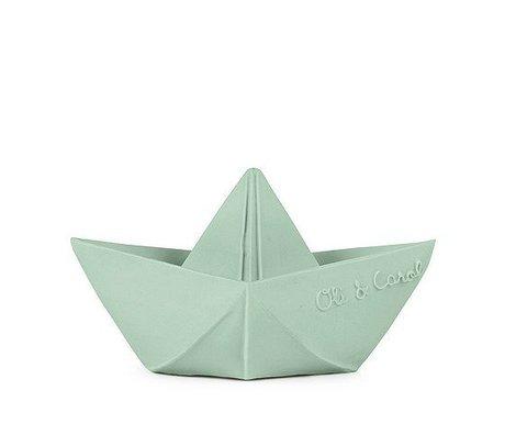 Oli & Carol Badspeeltje boot mint natuurlijk rubber 7,cm